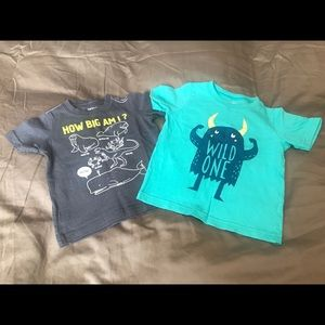 9M Carters Tshirts Monster Glow in the dark